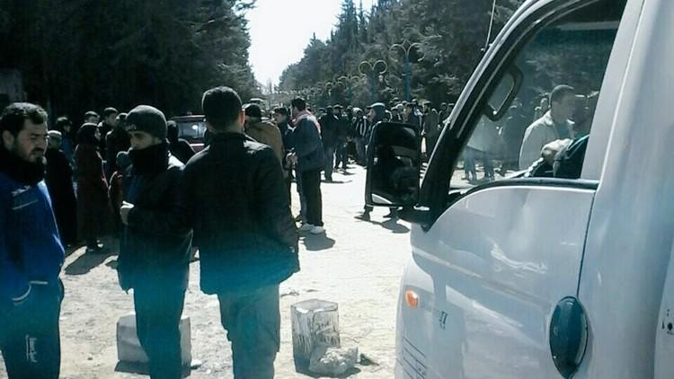 خروج المسلحين من سرغايا في ريف دمشق