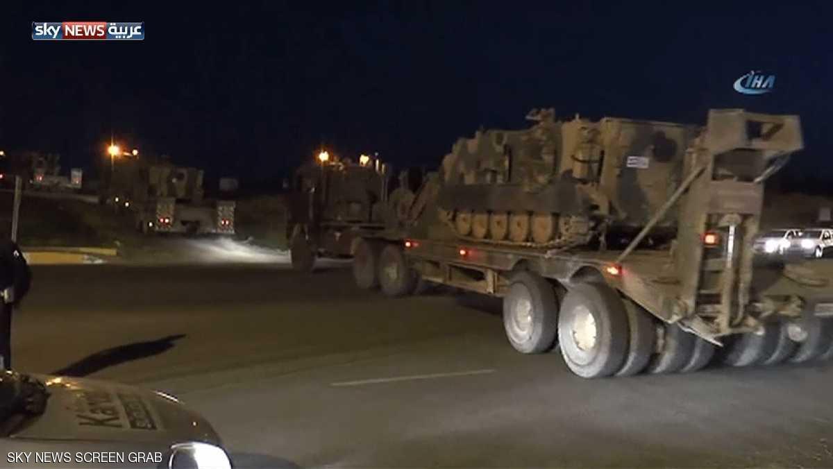 """أول قافلة عسكرية تركية إلى إدلب برفقة """"النصرة"""""""