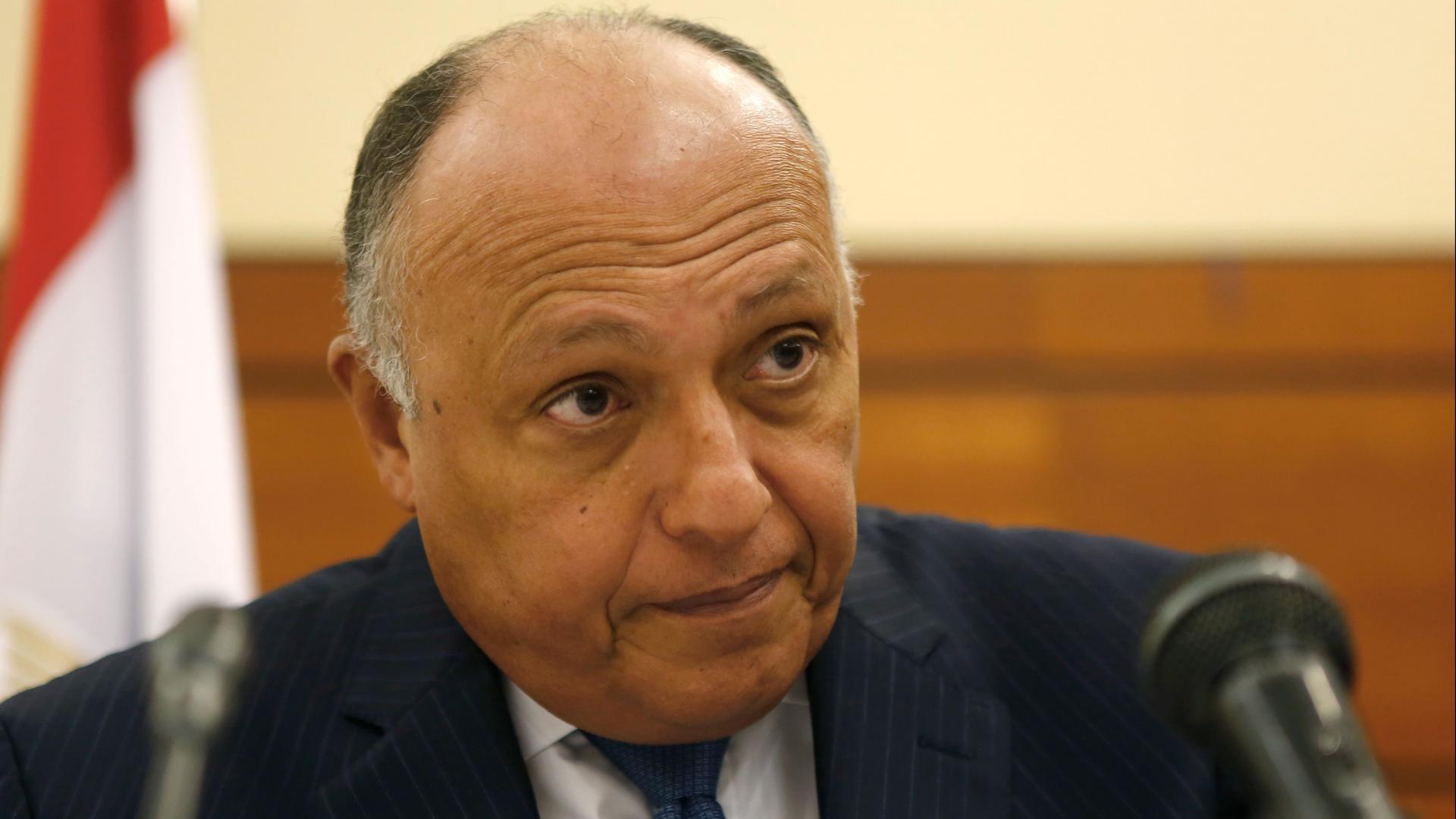 """وزير الخارجية المصري يتهم تركيا وقطر بـ""""دعم المتطرفين"""" في ليبيا"""