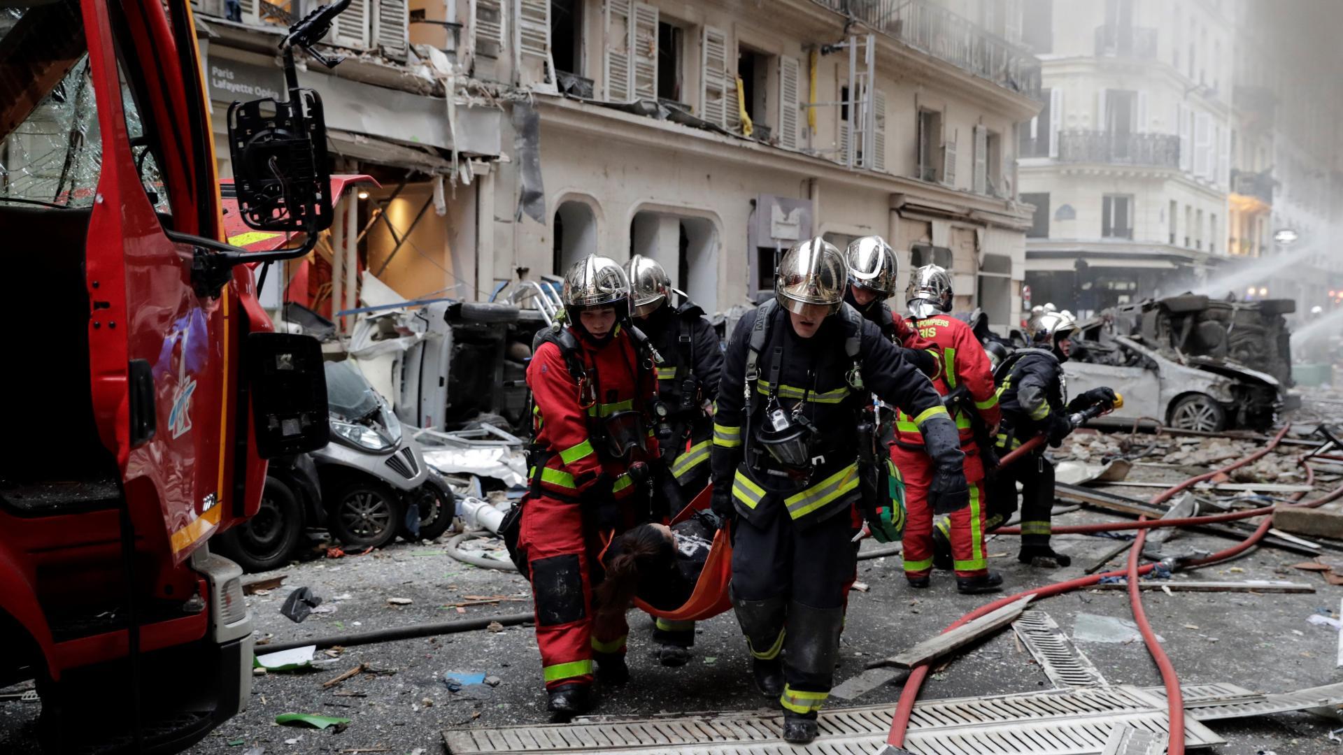 الشرطة الفرنسية: مقتل 2 إثر انفجار في باريس بسبب تسرب غاز