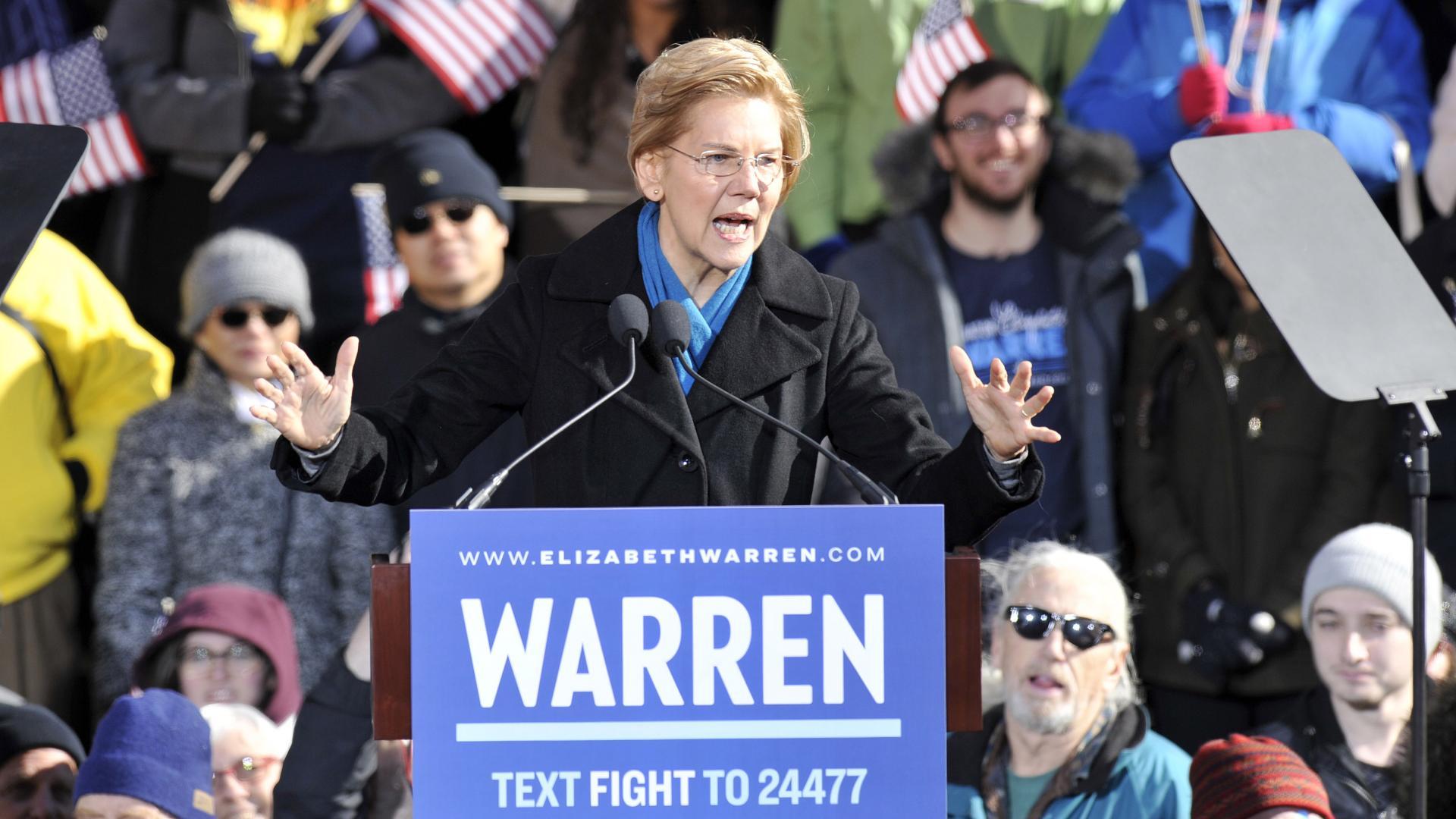 إليزابيث وارن: ترامب قد لا يكون شخصا حرا قبل الانتخابات المقبلة