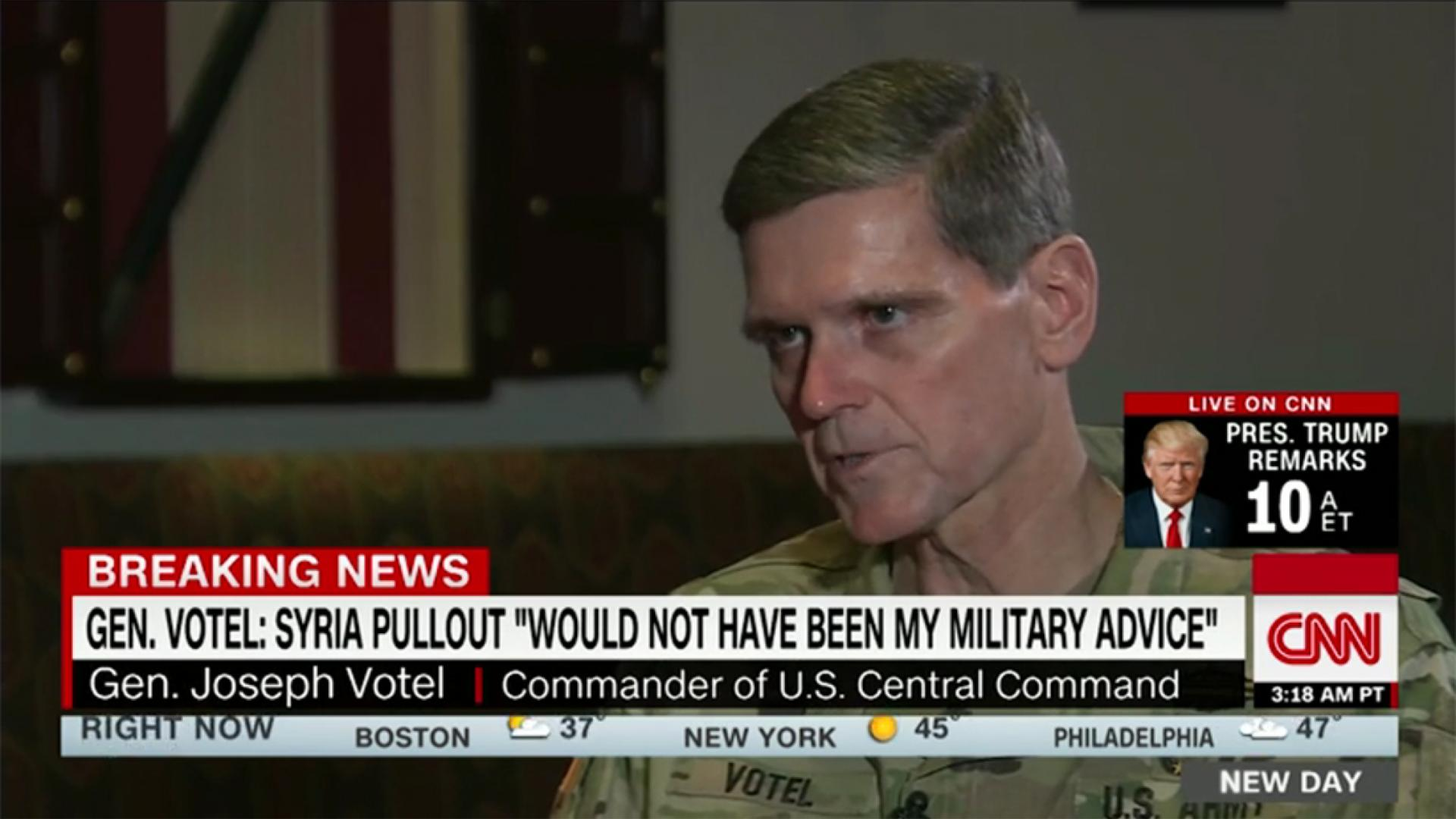 بعد شهادته بأن ترامب لم يستشره بقرار سحب القوات من سوريا.. فوتيل يتحدث لـCNN