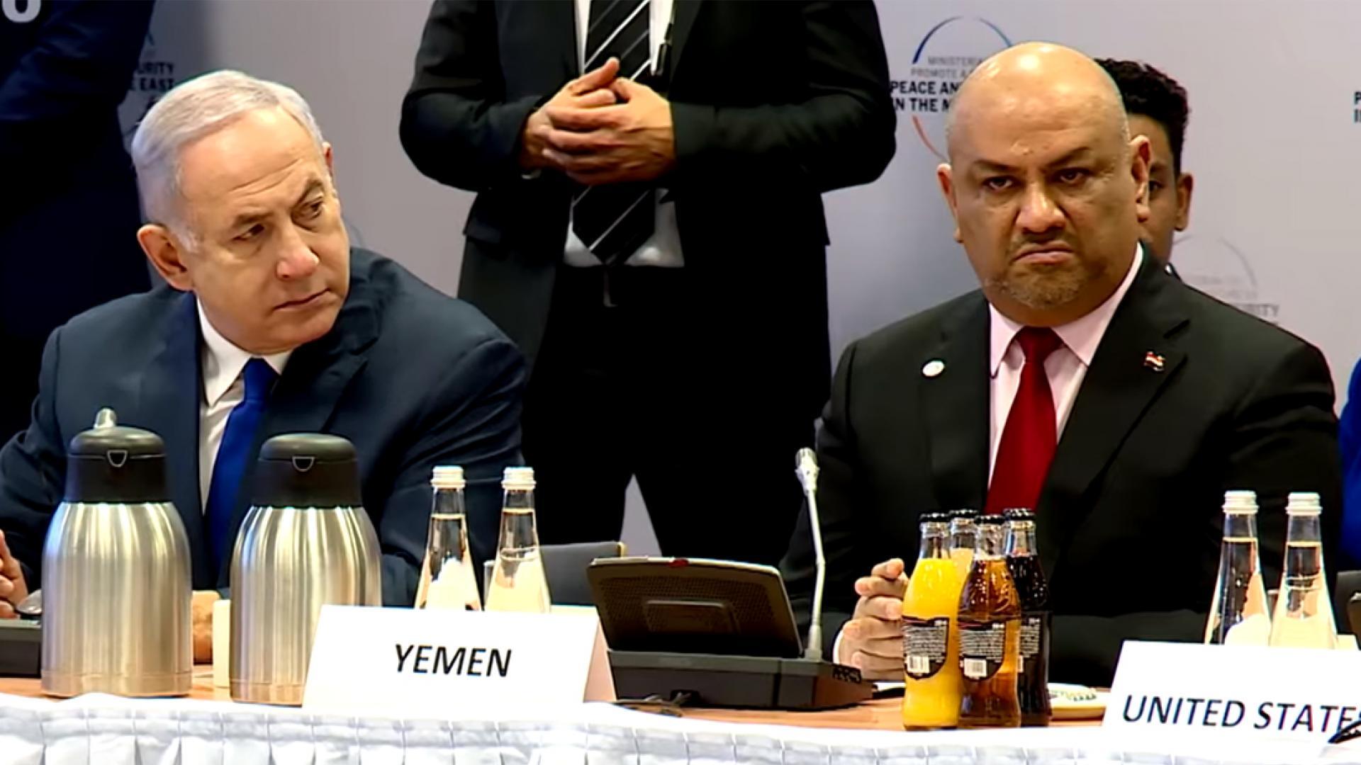 عبدالملك الحوثي يوجه انتقادات لاذعة بعد ظهور وزير خارجية اليمن بجانب نتنياهو في وارسو