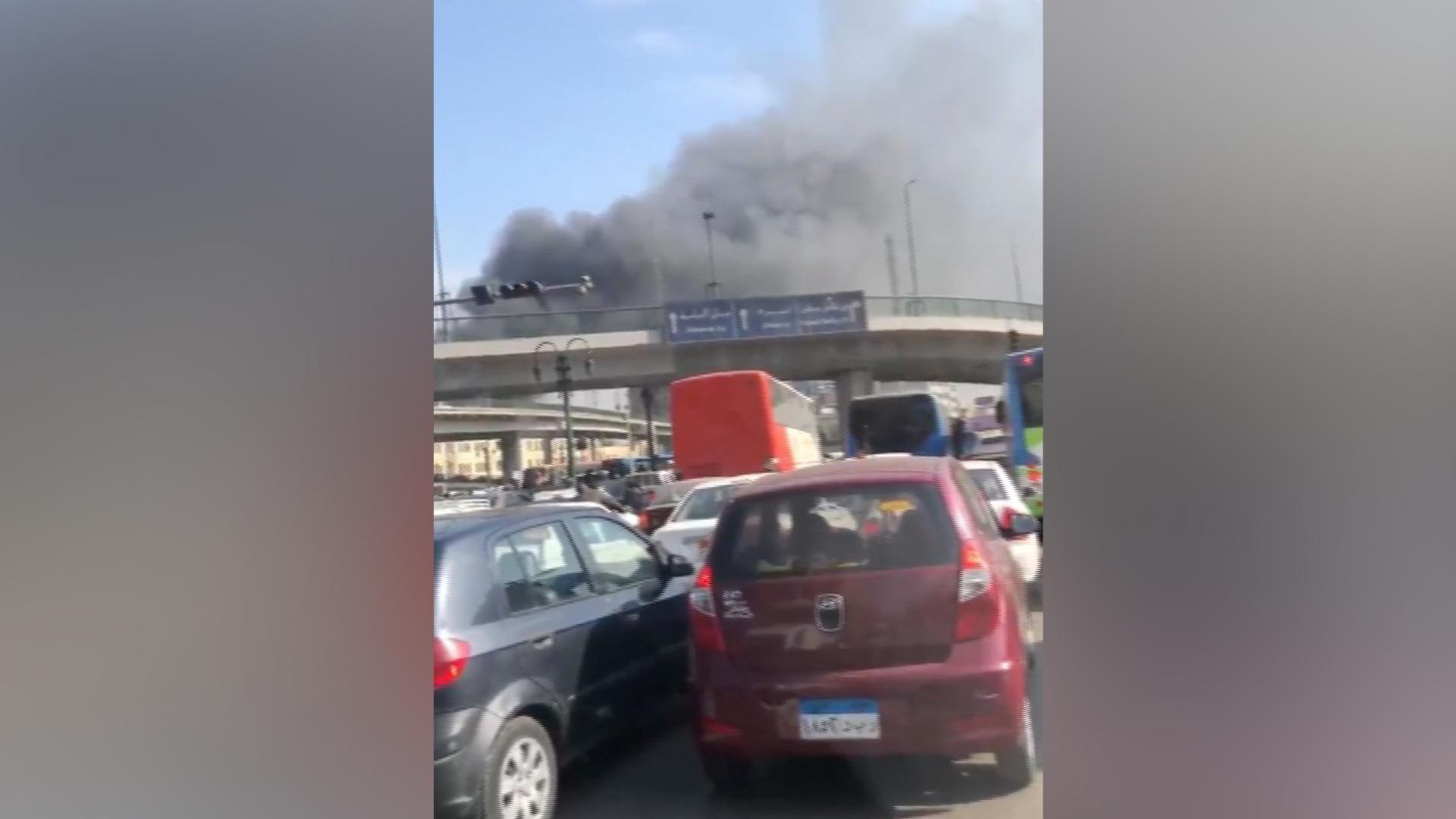 تلفزيون مصر: 20 قتيلا و40 مصابا بحريق محطة قطارات