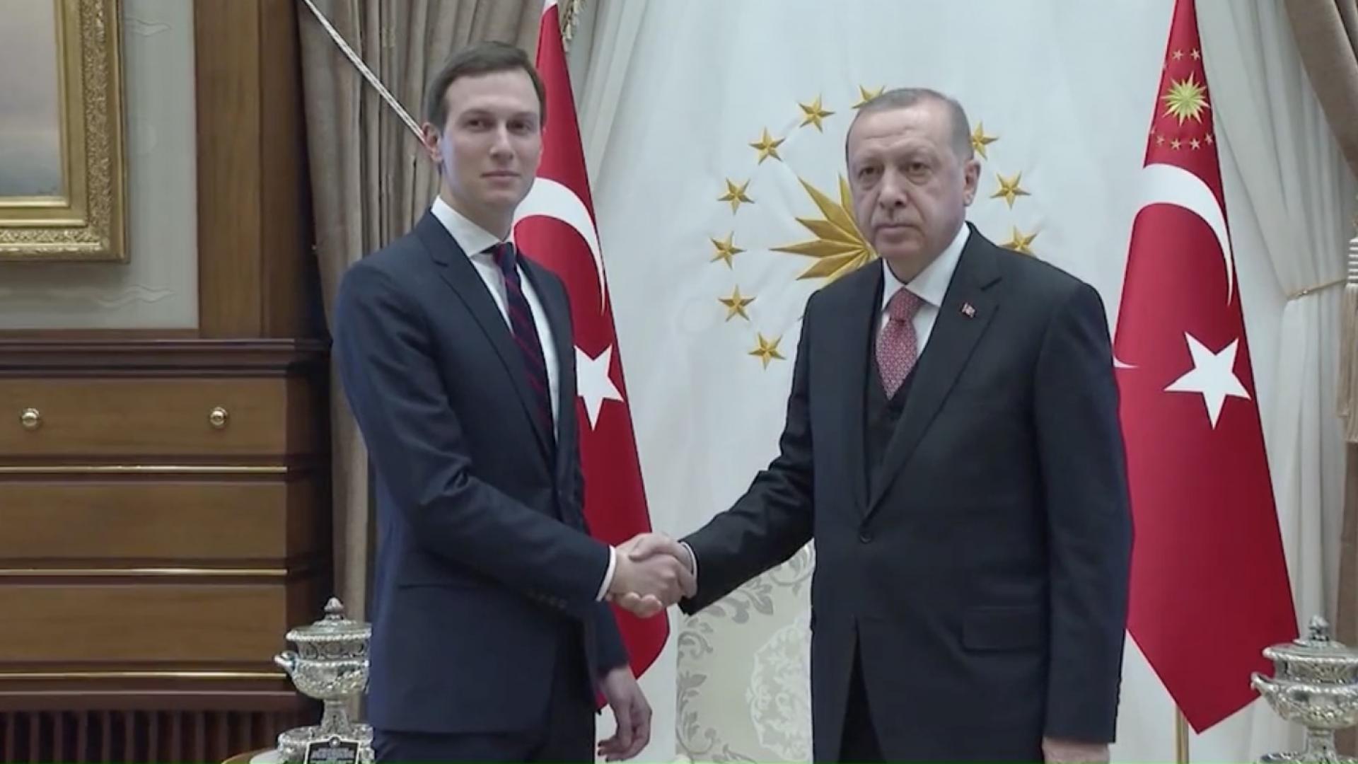 بعد لقاء الملك سلمان وولي عهد السعودية.. كوشنر يلتقي رئيس تركيا بأنقرة