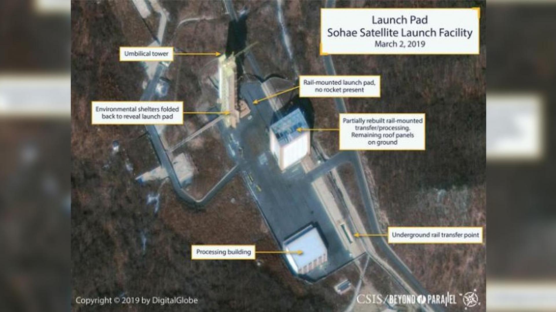 صور تكشف عن نشاط في موقع اختبار للصواريخ بكوريا الشمالية