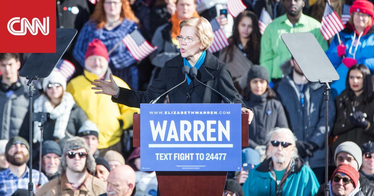 """إليزابيث وارن تدعو النواب الأمريكيين إلى بدء إجراءات """"عزل"""" ترامب"""
