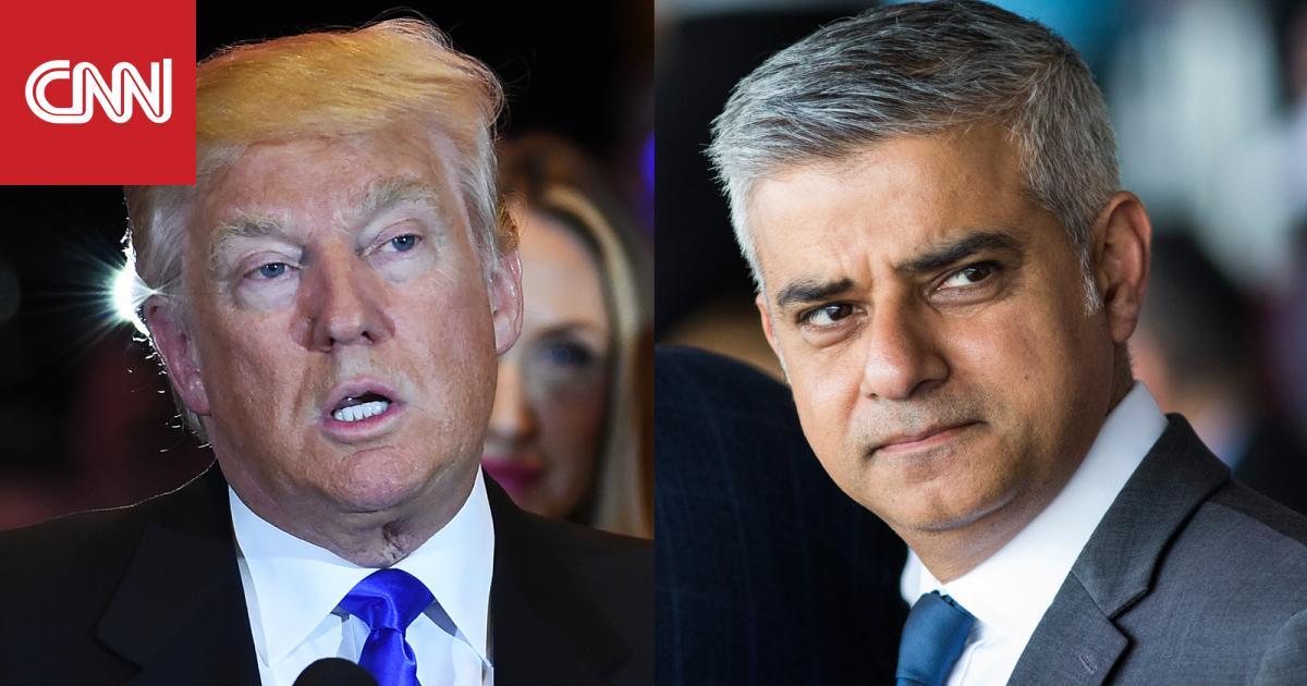 ترامب يهاجم عمدة لندن المسلم بتغريدات قبل هبوطه في بريطانيا