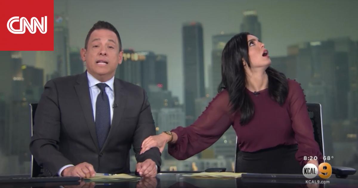 شاهد ردة فعل مذيعين على الهواء لحظة وقوع زلزال كاليفورنيا
