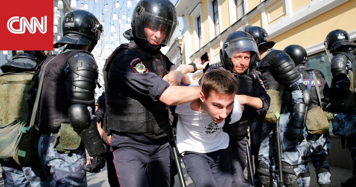 الشرطة الروسية تعتقل أكثر من 1000 متظاهر في احتجاجات السبت بموسكو