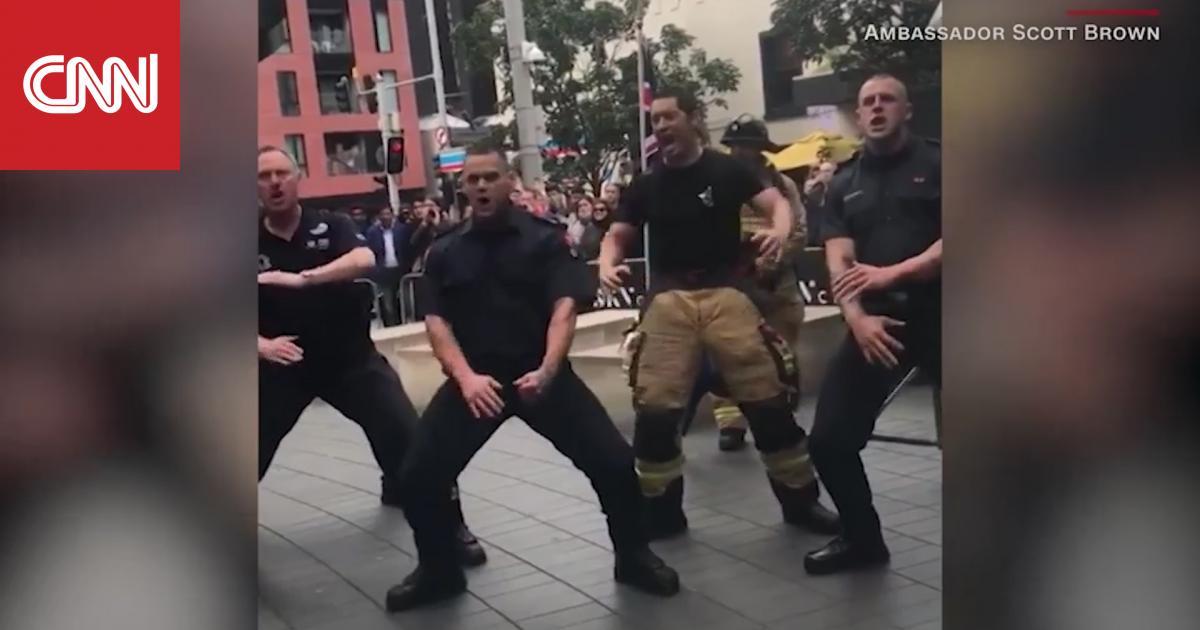 """رجال إطفاء نيوزيلنديون يؤدون رقصة """"هاكا"""" في ذكرى 11 سبتمبر"""