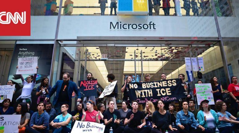 اعتقال 76 متظاهراً اعتصموا أمام متجر لمايكروسوفت في نيويورك