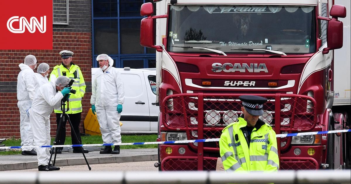 """القبض على 3 أشخاص للاشتباه في تورطهم بحادث """"شاحنة الجثث"""" في بريطانيا"""
